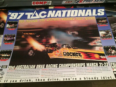 Huge Andra Drag Racing Shell Top Fuel Dragster Promotional Poster 1997 Release