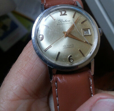 men's watch watch vintage men man PORTEX SUPERAUTOMATIC 25 RUBIS INCABLOC