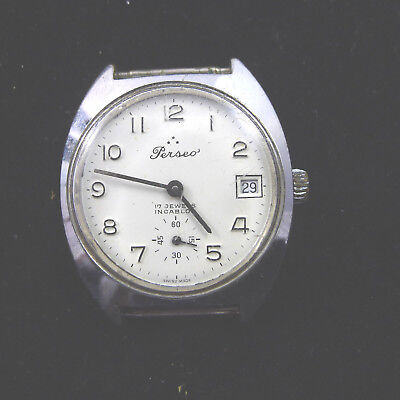 men's watch watch vintage men man PERSEO 1970 INCABLOC RAILROADS FS TRAIN