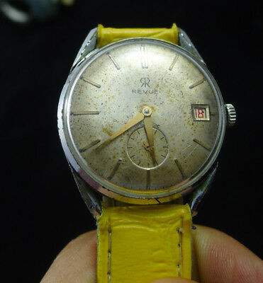 men's watch watch vintage men man REVUE DATE INCABLOC WORKING