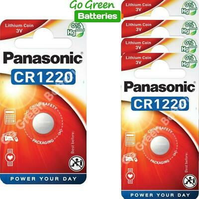 5 x Pansonic CR1220 3V Lithium Coin Cell Battery 1220 DL1220 BR1220 2028 Exp