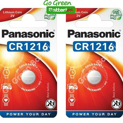 2 x Panasonic CR1216 3V Lithium Coin Cell Battery 1216 DL1216 BR1216 2028 Exp