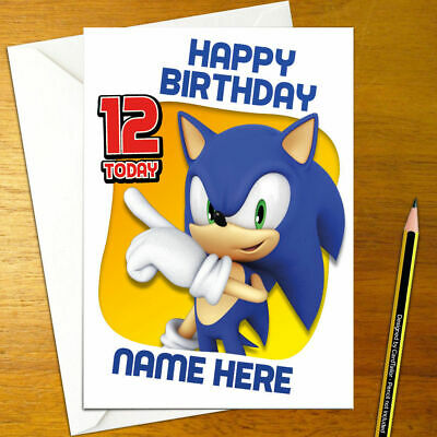 Sonic The Hedgehog Personalised Birthday Card A5 Sega Genesis
