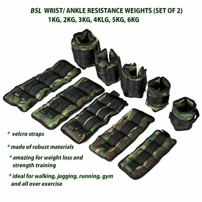 Ankle Weight Adustable Leg Wrist Strap Running Gym Traing Exercise Bracelet Army