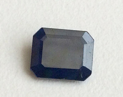 10x12mm Blue Sapphire Faceted Emerald Stone 1Pc Glass Filled Sapphire 4.60 Carat