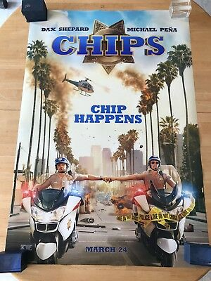 """CHiPs D/S Authentic Movie Poster 27""""x40""""*Dax Shepard Michael Pena"""