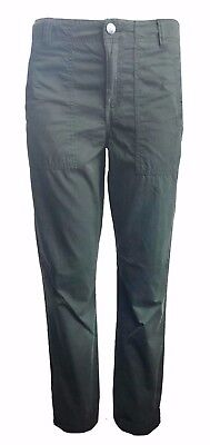 Ex Marks and Spencer Indigo Cotton Khaki Turn-up Crop Chino Trousers 8-20 (W2.4)