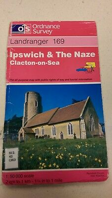 Ipswich and The Naze, Clacton-On-Sea: Landranger 169: Ordnance Survey Map