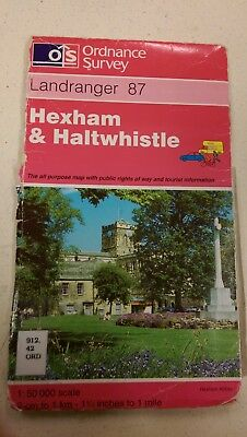 Hexham and Haltwhistle: Landranger 87: Ordnance Survey Map