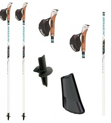 Swix Ct3 Just Go - Just Click * Nordic Walking Stöcke * 80% Carbon - Neu