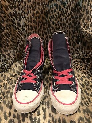 0a738c43827 CONVERSE ALL STARS CHUCK TAYLOR COSMOS PINK HIGH TOP HEARTS SIZE 6 ...