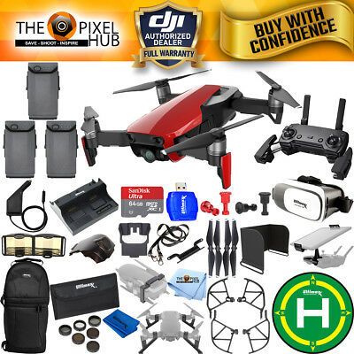 DJI Mavic Air (Flame Red) 3 Battery EXTREME All You Need Accessory Bundle NEW