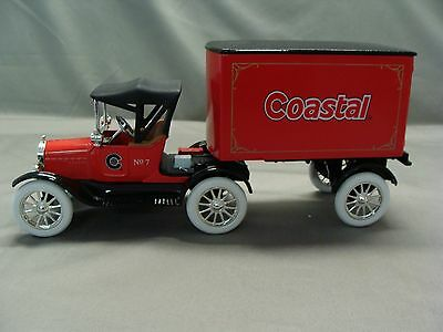 Coastal 1918 Ford Runabout Tractor Trailer Toy Bank, 1999 Ertl, Stock #19658