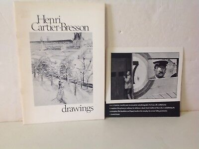 HENRI. CARTIER-BRESSON DRAWINGS -1975 - SOFT COVER w/HOMMAGE!