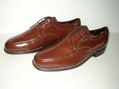 27095a905c7e Vintage Sears Brown Leather Plain Toe Oxfords SZ Mens 9 EE Nice! Barely Worn