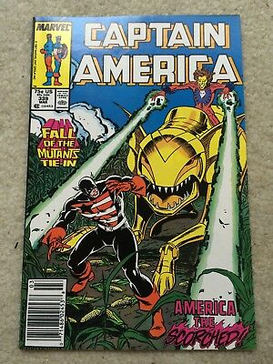 Captain America #339 *Fall of the Mutants Tie-IN* *99 Cent Auction Sale L@@K*