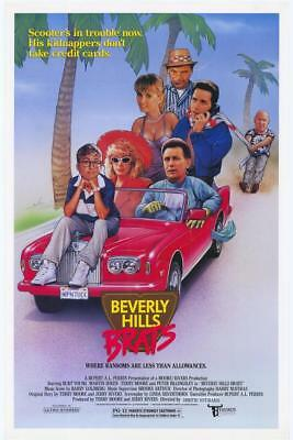 """BEVERLY HILLS BRATS - 27""""X41"""" Original Movie Poster One Sheet 1989 Rolled Rare"""