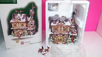 Department 56 Rudolph North Pole Series Santa's Castle Figure Christmas with Box