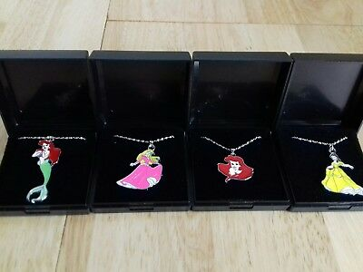 4  NEW DISNEY PRINCESS NECKLACES  Gift Boxed