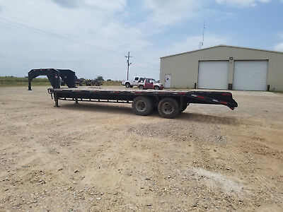 Used 20' + 5' Gooseneck Flatbed Trailer