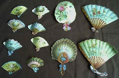 Paper scraps vintage Victorian style Mamelok - 12 large and small fans
