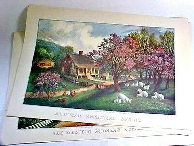 TRAVELERS CALENDAR OF Currier And Ives Prints 1943 - $38.00 | PicClick