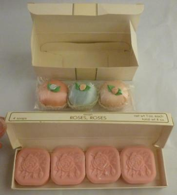 NEW Vintage Avon Roses Boxed Soaps Lot of 4 Sweet Sachets Lot of 3