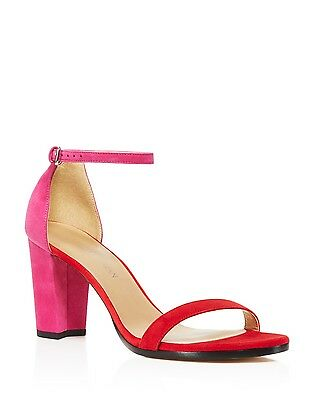 1dd61e966b7d  398 Size 8 Stuart Weitzman Nearlynude Red Suede Ankle Strap Heel Womens  Sandals