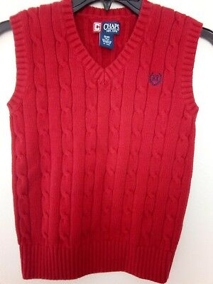 Chaps Boys Red Sweater Vest size 8 Small Excellent Condition very versatile