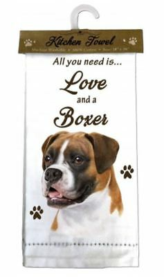 Boxer Dog Dog Cotton Kitchen Dish Towel