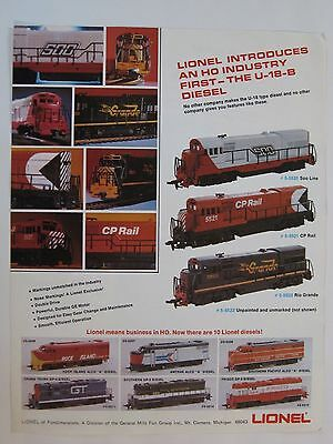 -Original Lionel HO Advertisement – U-18-B Diesel and 3 New Building Kits