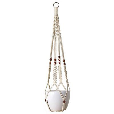 Mkono Macrame Plant Hanger Indoor Outdoor Hanging Planter Basket Cotton Rope