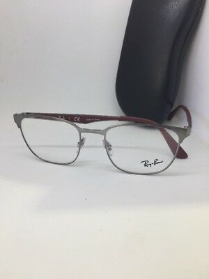 3df645b989 NEW AUTHENTIC RAY BAN RB 6356 2880 GUNMETAL RED EYEGLASSES FRAME RX RB6356  50mm