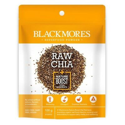 Blackmores Superfood Powder Raw Chia + Nature Boost Vital Nutrients 100g