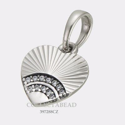 Authentic Pandora Silver Fan of Love CZ Pendant 397286CZ NEW SUMMER 2018!!!