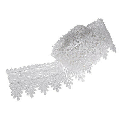 5Yards 8cm White Lace Edge Trim 3-1/8 inch wide H5Z5