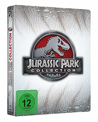 Jurassic Park Collection Limitierte Steelbook Edition Blu Ray Neu & Ovp