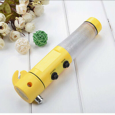 Multi-Function Car Flashlight Flash Lamps Light With *Emergency Window Hammer