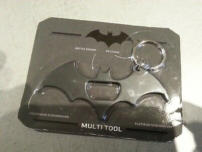 Multi Tool Keyring - Bat Shaped, Brand New In Packet