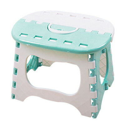Plastic Folding 6 Type Thicken Step Portable Child Stools (Light blue) 24.5 E3R3