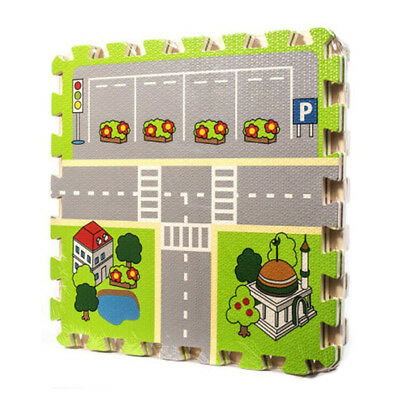 Meitoku Kids Puzzle Mat City Road Design Joint Mat Baby Baby Play Mat Play W7O4