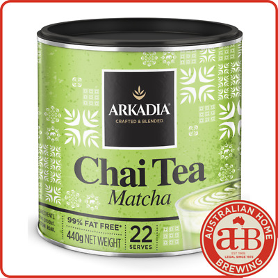Arkadia Matcha Green Tea Latte 440g chai green chai latte powder