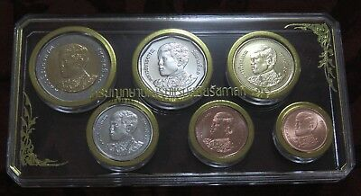 New Direct from the Thailand Mint 2018 King Rama X 6 Coin Set Baht & Satang