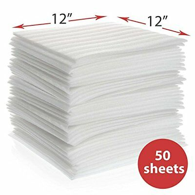 """12"""" x 12"""" (50-Pack) Foam Wrap Sheets for Moving Shipping Packing & Storing"""