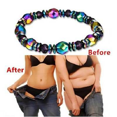 Men Women Magnetic Bracelet Beads Hematite Stone Therapy Health Care Weight Loss