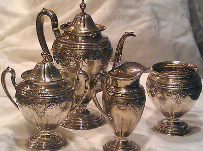 Antique Frank M Whiting Sterling Silver Tea Set ~ 1957g Scrap Wgt
