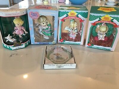 Precious Moments Lot Of 5 Christmas Tree Ornaments ~ in boxes