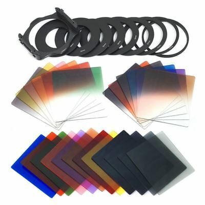 24pcs Square Full + Graduated Filter Set + 9 Size Adapter Ring Filter Holde D2Y2
