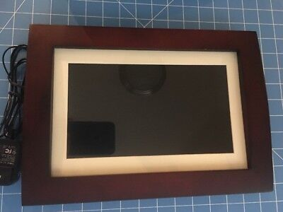 Sylvania Photo Frame Brown Frame Good Working Condition Missing Stand