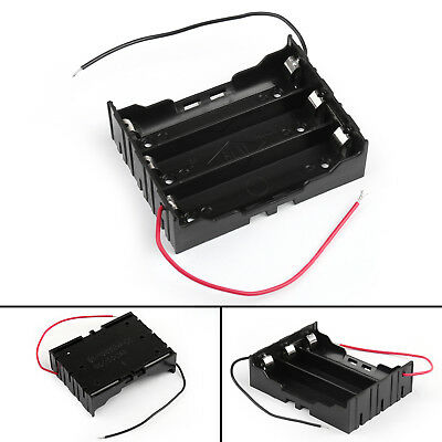3 Cell 18650 Series Battery Holder Storage Case With Wire Leads 11.1V AU